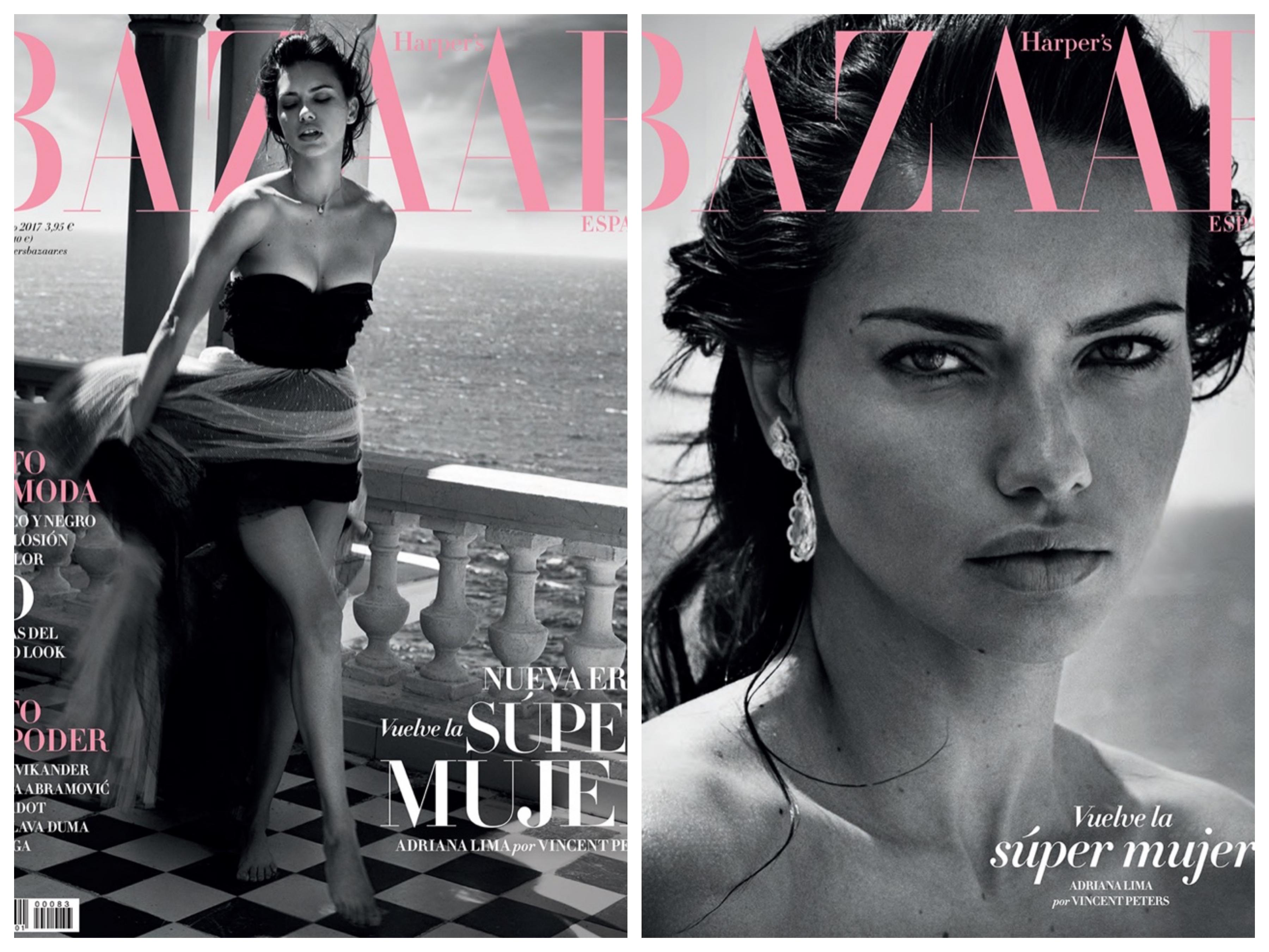 Olśniewająca Adriana Lima na okładce Harper's Bazaar Spain