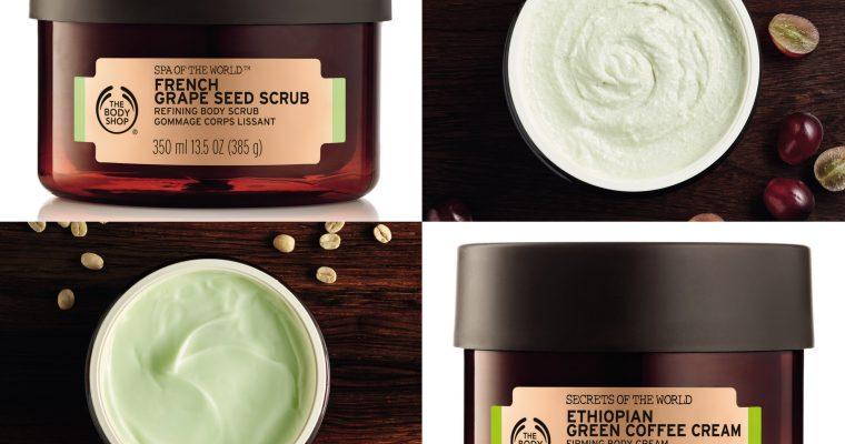 Ujędrniający rytuał SPA od The Body Shop – French Grape Seed Scrub i Ethiopian Green Coffee Cream