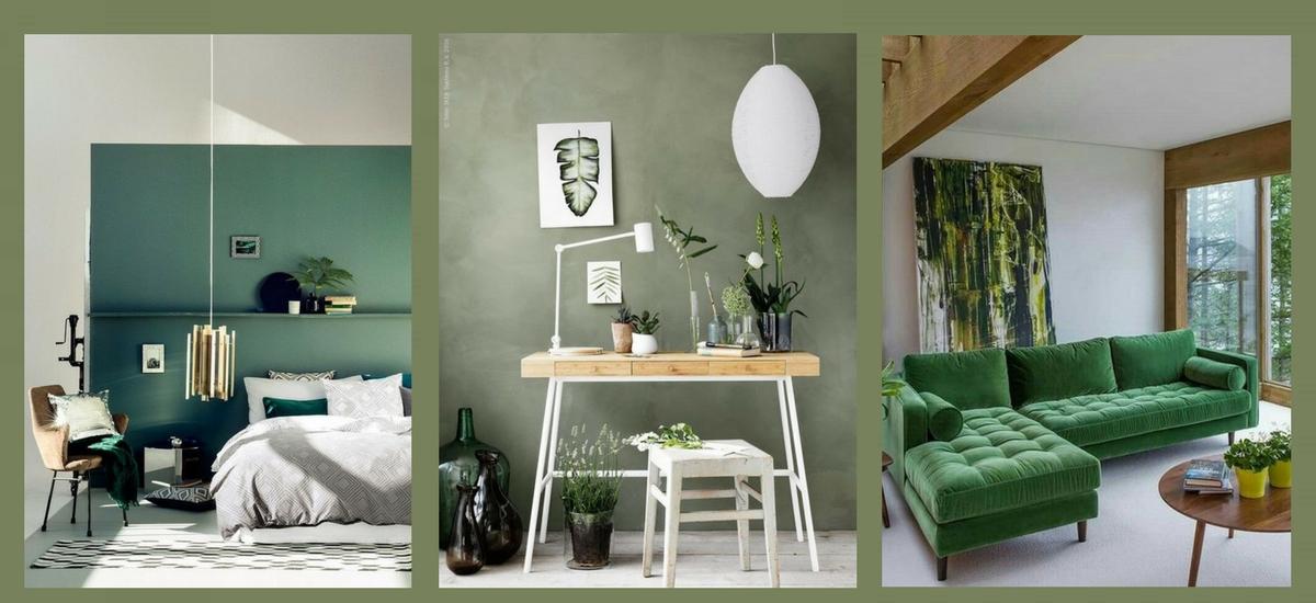 Sage green we wnętrzach – inspiracje z Pinterest