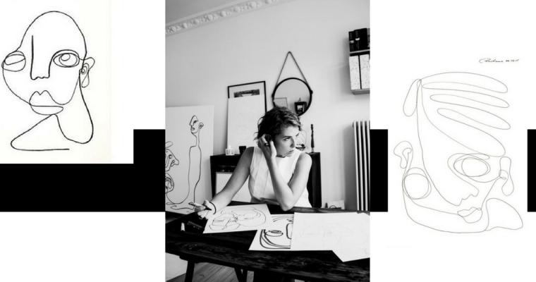 Christiane Spangberg – sztuka jednej linii