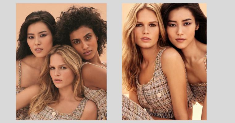 Liu Wen, Anna Ewers i Imaan Hammam w makijażowej kampanii Chanel Les Beiges
