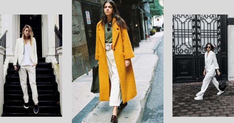 Białe spodnie – gorący trend jesieni