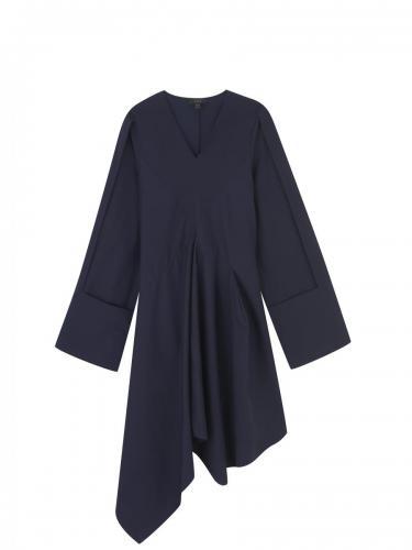 Cotton Drape Front Dress RGB
