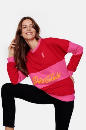 Pina Colada Red Lips Layer Chilli Red Sweatshirt 2