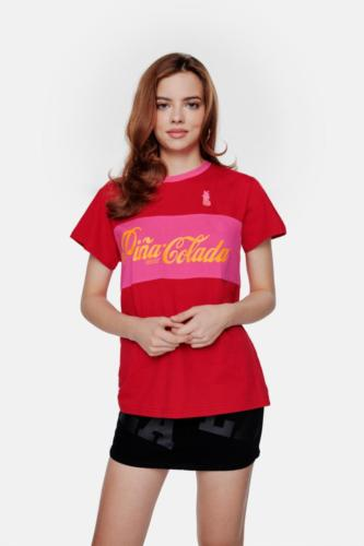 Pina Colada Red Lips Layer Classic Chilli Red Tee