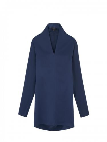 Silk Tunic Dress with Draped Back RGB