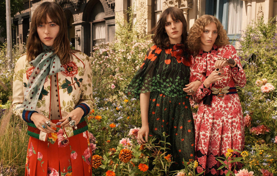 DAKOTA JOHNSON, HARI NEF i PETRA COLLINS promują zapach GUCCI