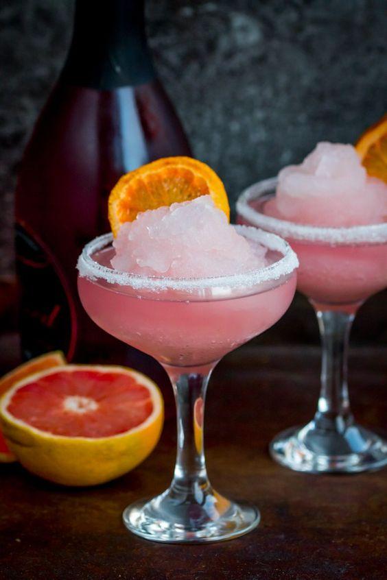 Drink Frozen pink grapefruit