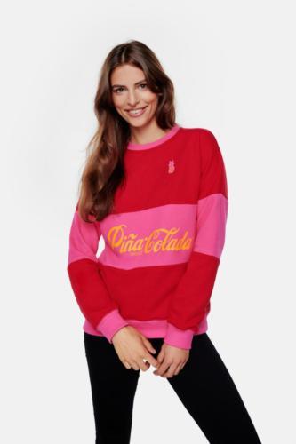 Pina Colada Red Lips Layer Chilli Red Sweatshirt