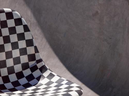 SP19 VAULT MODERNICA SHELL CHAIR BLACK CHECKERBOARD 0189